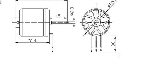 无刷直流外转航模电机sn2632-1000